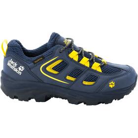 Jack Wolfskin Vojo Texapore Low Shoes Kids, blauw/geel